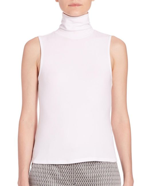 Theory - Gray Wendel Sleeveless Sweater - Lyst