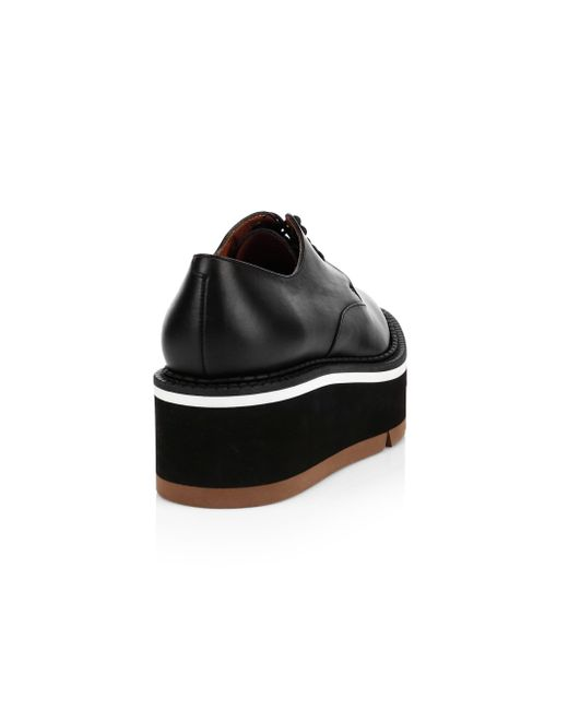 9ebf3f779717 ... Clergerie - Black Barabara Leather Flatform Oxfords - Lyst ...