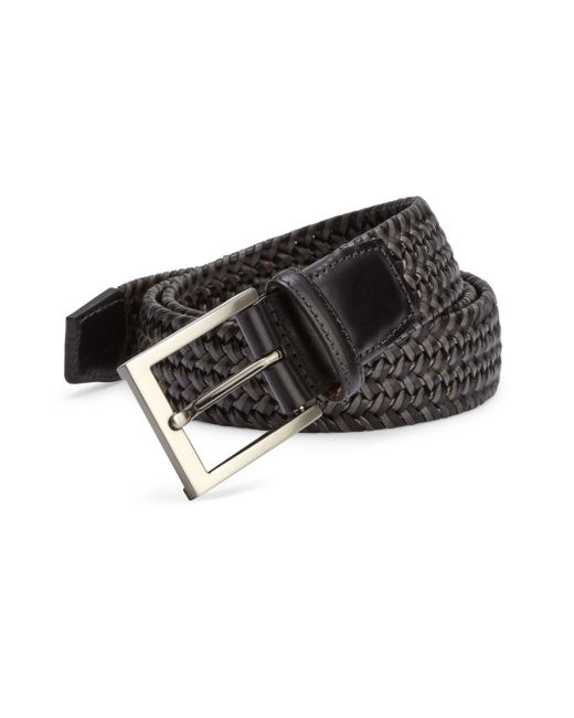 Saks Fifth Avenue | Black Braided Leather Blend Belt for Men | Lyst