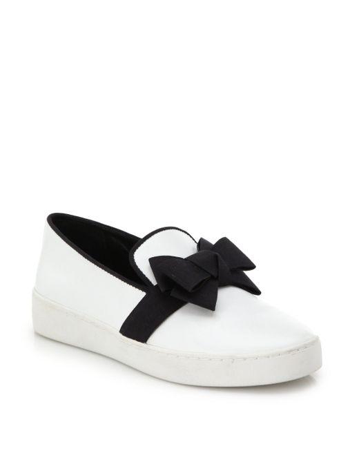 Michael Kors | White Val Runway Bow Skate Shoe | Lyst