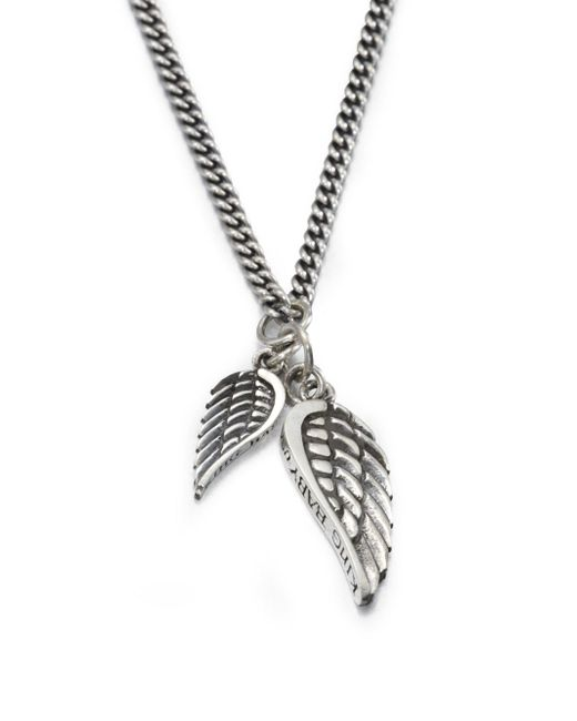 King Baby Studio - Metallic Double Wing Pendant Necklace for Men - Lyst