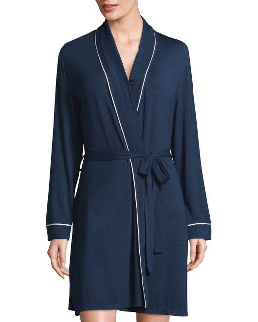 Eberjey - Blue Gisele Tuxedo Robe - Lyst