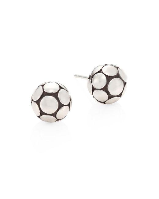 John Hardy - Metallic Dot Medium Silver Ball Stud Earrings - Lyst