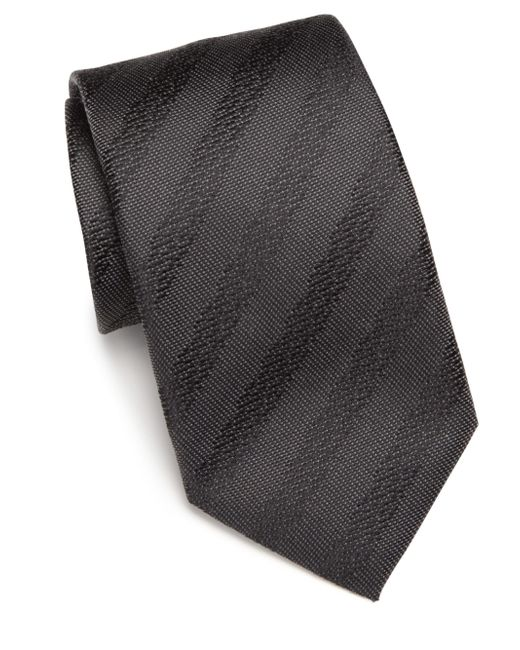 Saks Fifth Avenue | Gray Silk Textured Tie for Men | Lyst
