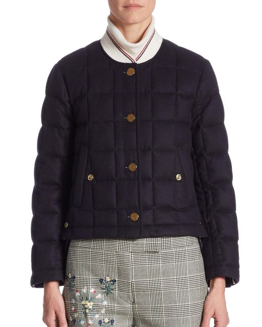 Thom Browne - Blue Cashmere Down Jacket - Lyst
