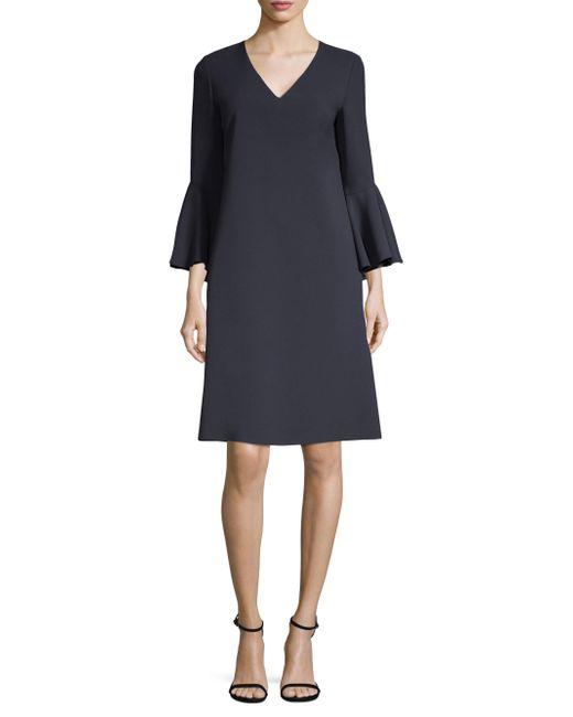 Lafayette 148 New York - Blue Holly Bell-sleeve Shift Dress - Lyst