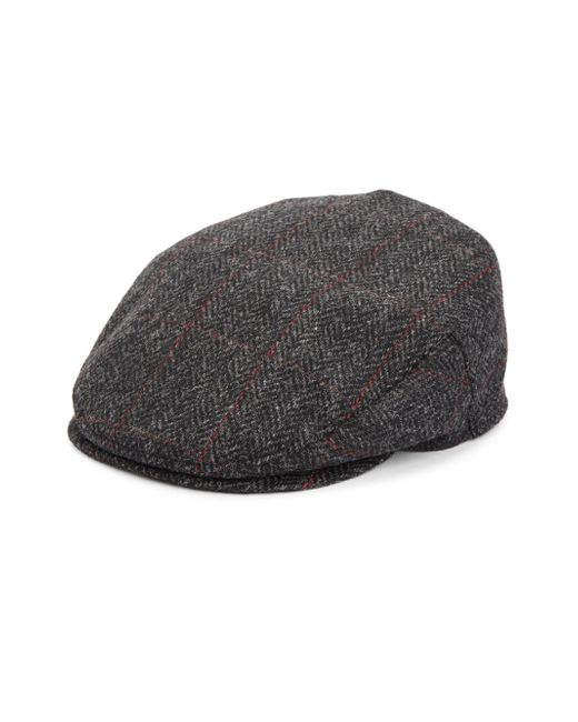 Saks Fifth Avenue | Gray Collection Herringbone Plaid Classic Wool Ivy Cap for Men | Lyst
