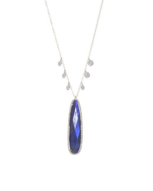 Meira T - Metallic Blue Labradorite & 14k Yellow Gold Pendant Necklace - Lyst