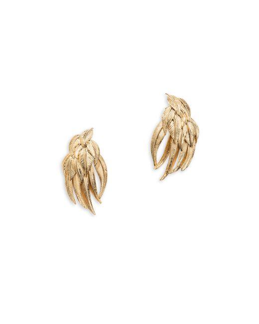 Aurelie Bidermann - Metallic Elvira Feather Stud Earrings - Lyst