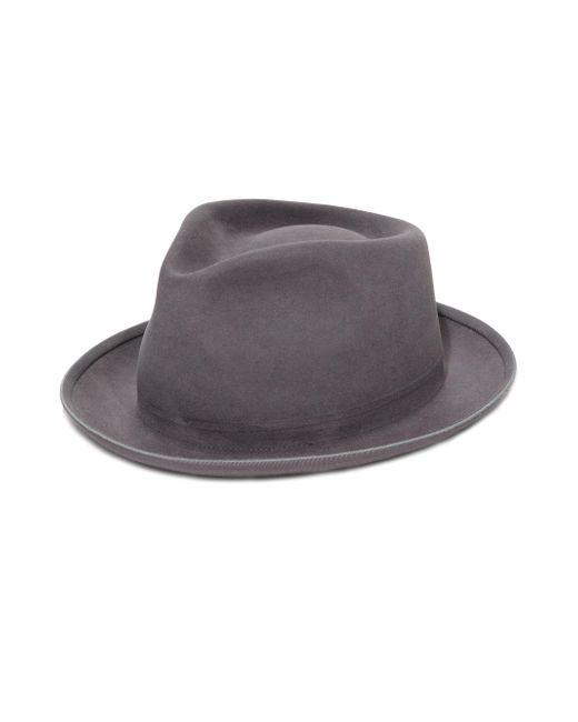 SuperDuper Hats Gray The Gambler Rabbit Fur Felt Hat for men