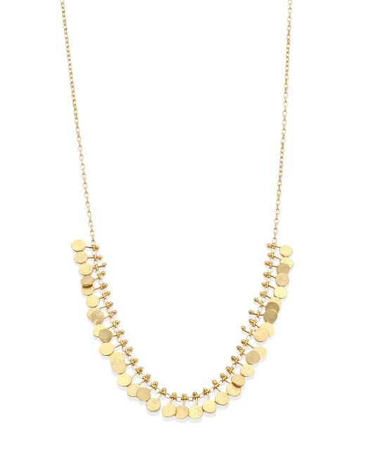 Sia Taylor - Metallic Dots 18k Yellow Gold Necklace - Lyst