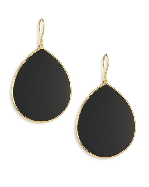 Ippolita | Black Onyx & 18k Yellow Gold Large Teardrop Earrings | Lyst