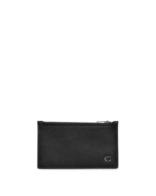 dcdc03ff0da4 Coach Signature Zip Leather Card Case in Black for Men - Lyst