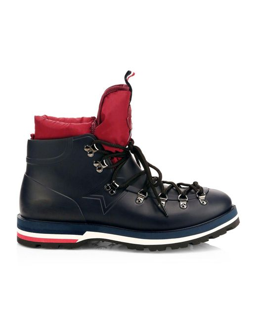 Moncler Blue Henoc Scarpa Rain Boots for men