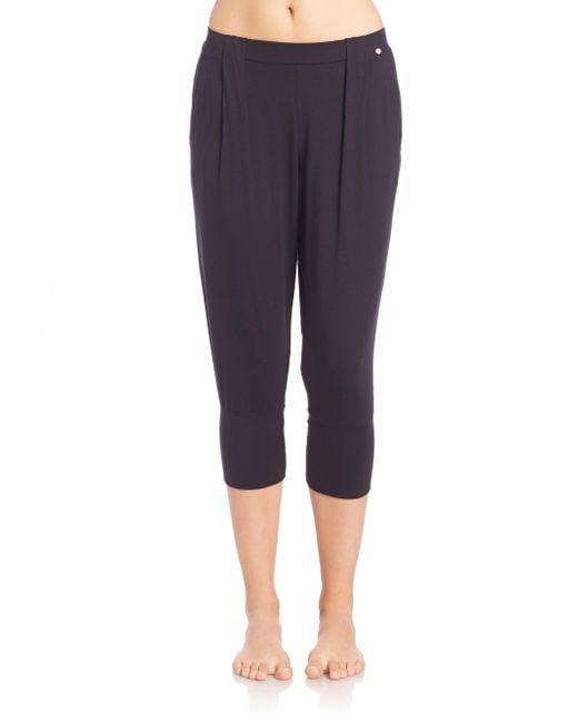 Hanro | Black Yoga Fashion Cropped Lounge Pants | Lyst