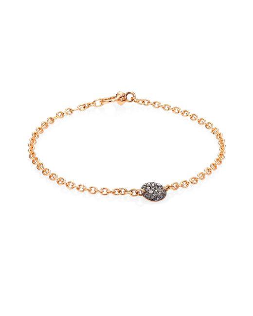 Pomellato - Metallic 18kt Rose Gold Sabbia Diamond Bracelet - Lyst
