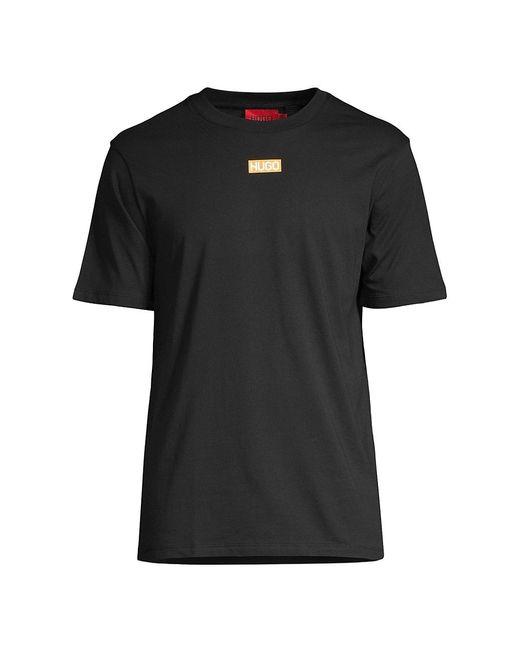 HUGO Black Durned212 Logo T-shirt for men