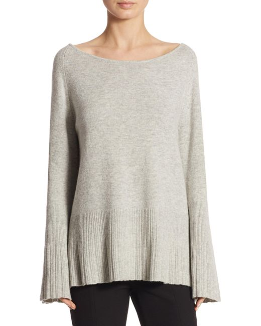 Elizabeth and James - Gray Clarette Boatneck Sweater - Lyst