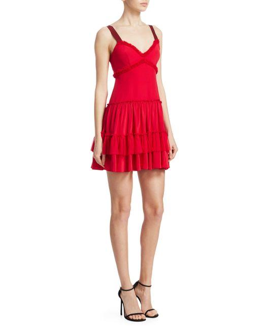 Cinq À Sept - Livia Tiered Ruffle Mini Dress - Lyst