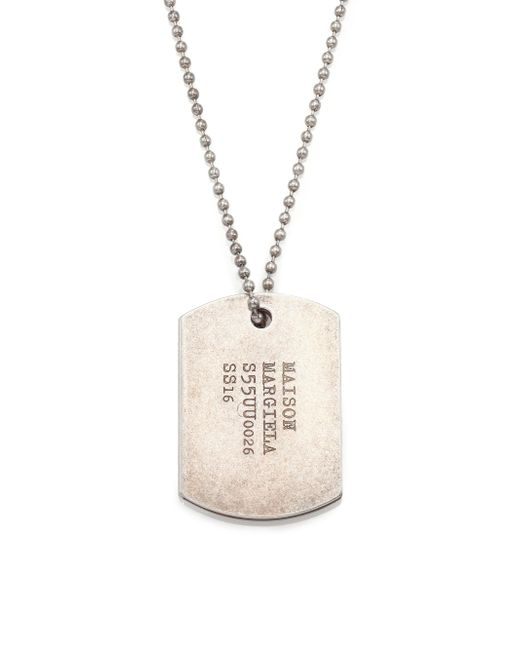 Maison Margiela | Metallic Dogtag Necklace for Men | Lyst