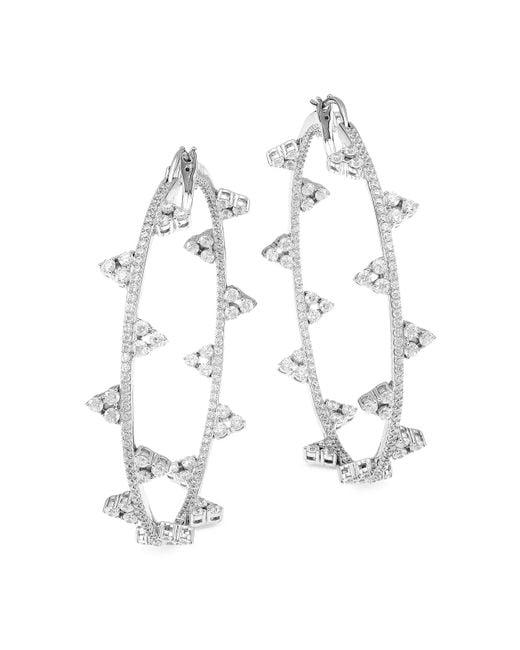 La phaca Luxury Cubic Zirconia Silver Plated Statement Ring