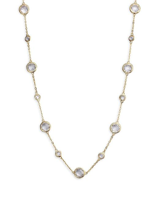 Adriana Orsini Multicolor Stationed Bezel-set Necklace