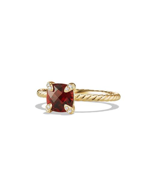 David Yurman - Metallic Châtelaine Ring With Gemstone And Diamonds In 18k Gold - Lyst