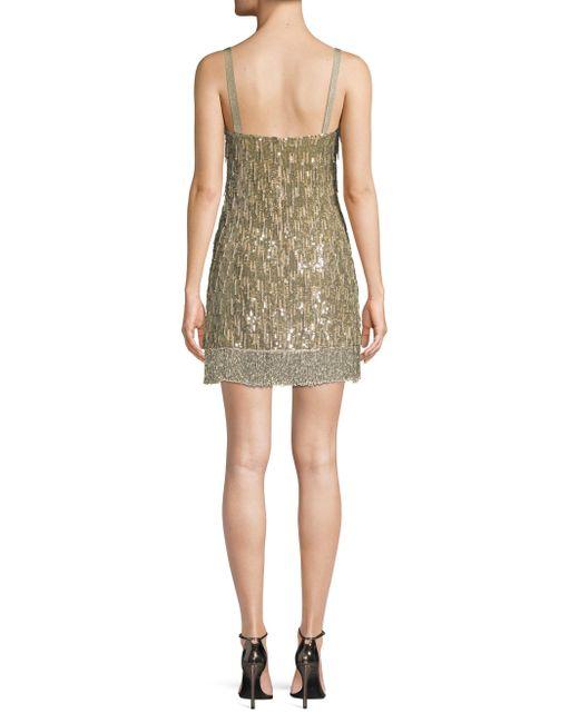 d8ddcd6942225 ... Alexis - Green Izabell Sequined Mini Dress - Lyst ...
