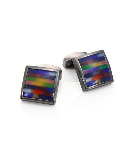Tateossian - Multicolor Tetris Multi-color Cuff Links for Men - Lyst