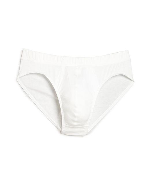Hanro - White Sea Island Cotton Cotton Briefs for Men - Lyst