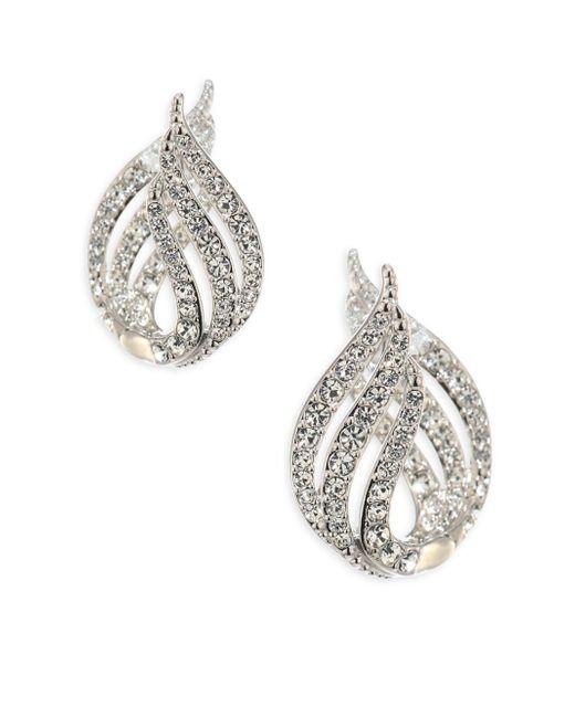 Adriana Orsini | Metallic Wisp Crystal Huggie Earrings | Lyst