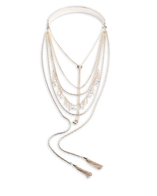 ABS By Allen Schwartz | Metallic Collar And Layered Chain Necklace | Lyst
