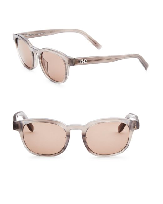 Ferragamo | Gray 50mm Wayfarer Sunglasses for Men | Lyst