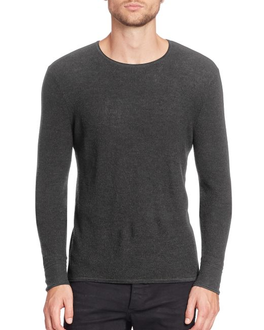 Rag & Bone - Gray Giles Crewneck Sweater for Men - Lyst