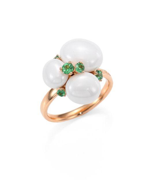 Pomellato - Metallic Tsavorite, Ceramic & 18k Rose Gold Ring - Lyst