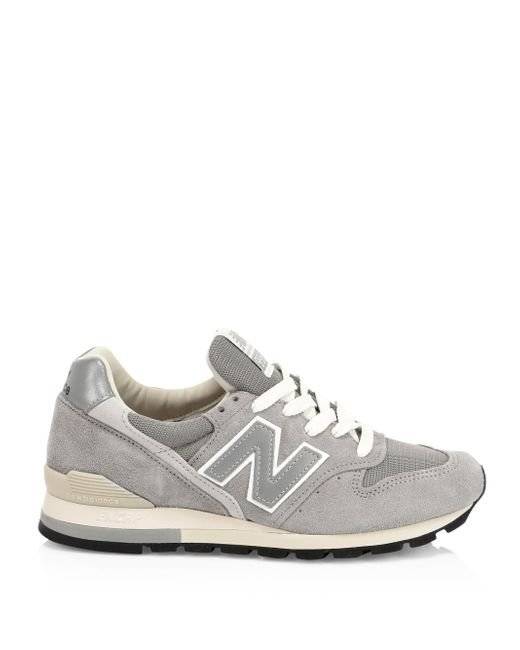 New Balance 996 Made In Usa Suede Sneakers in Grey (Gray
