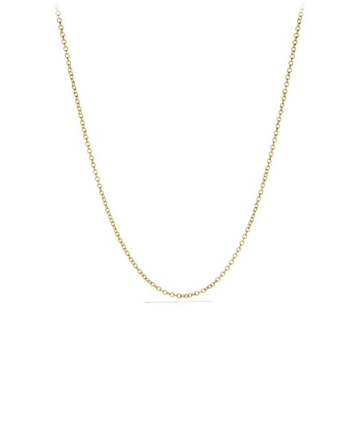David Yurman - Metallic Small Cable Rolo Chain Necklace In Gold - Lyst