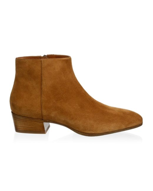 Aquatalia - Brown Women's Fuoco Suede Ankle Boots - Bark - Size 10.5 - Lyst