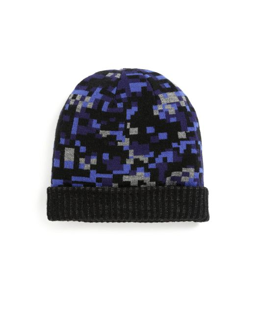 Saks Fifth Avenue Black Geometric Print Hat for men
