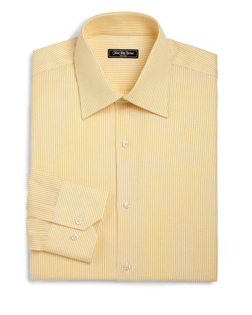 Saks Fifth Avenue | Yellow Regular-fit Bengal Stripe Dress Shirt for Men | Lyst