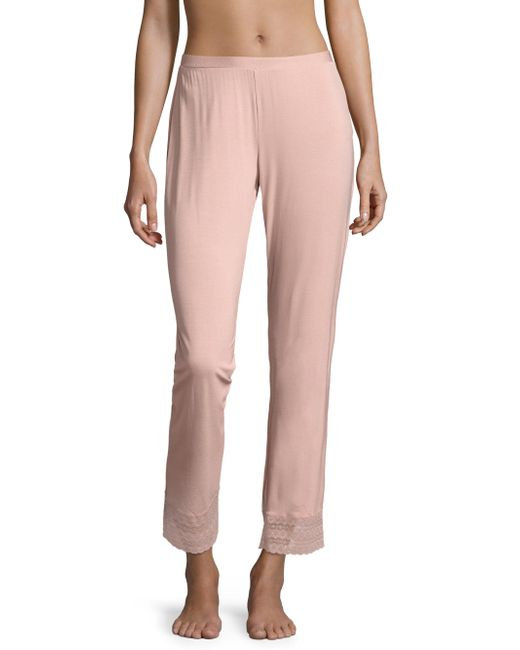 Saks Fifth Avenue - Pink Collection Lori Lace-accented Wide-leg Pants - Lyst