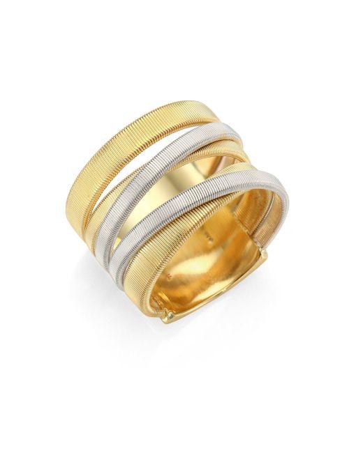 Marco Bicego | Metallic Masai 18k Yellow & White Gold Five-strand Ring | Lyst