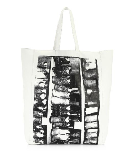 CALVIN KLEIN 205W39NYC - White Andy Warhol Boots Soft Leather Tote - Lyst