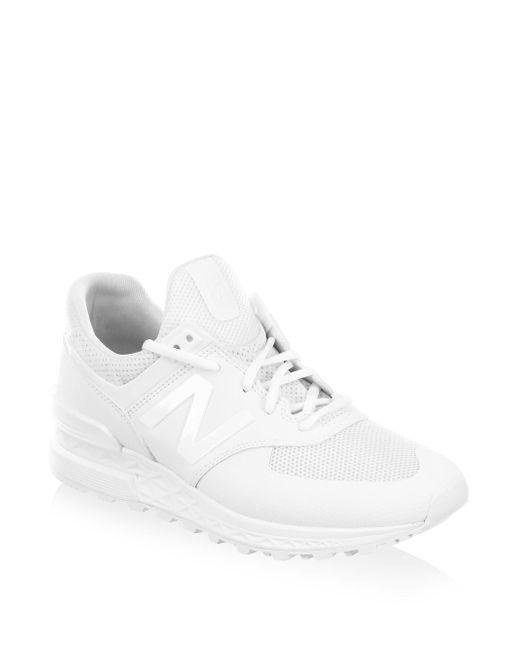 New Balance | White Perforated Running Sneakers | Lyst