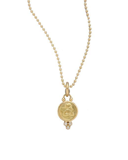 Temple St. Clair - Metallic Angel Diamond & 18k Yellow Gold Small Pendant - Lyst