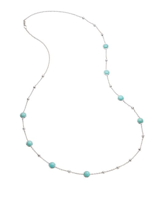 Ippolita | Metallic Long Sterling Silver Turquoise Station Necklace | Lyst