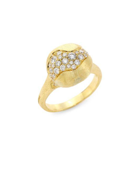 Marco Bicego - Metallic Africa Diamond & 18k Yellow Gold Ring - Lyst