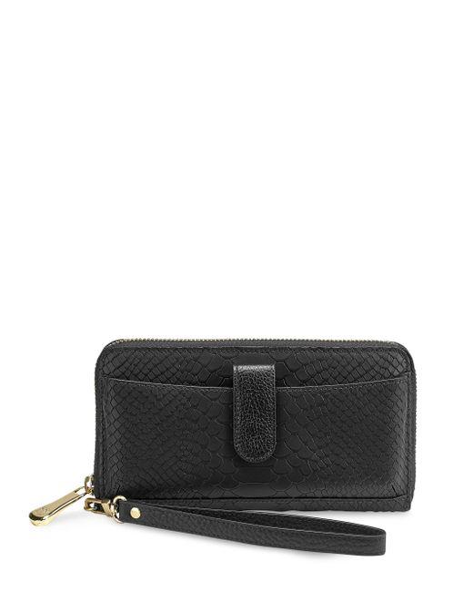 Gigi New York   Black Leather Phone Wallet   Lyst