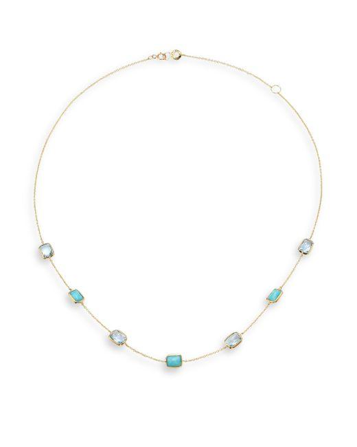 Ippolita | Rock Candy Blue Topaz, Amazonite & 18k White Gold Mini Gelato Station Necklace | Lyst