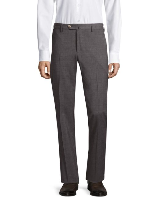 PT01 | Gray Stretch Trousers for Men | Lyst